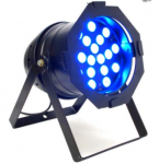 PAR 64 A LED DMX COMPLETE TRICHROMIQUE A SOURCE UNIQUE HAUTE PUISSANCE (LED 3W)